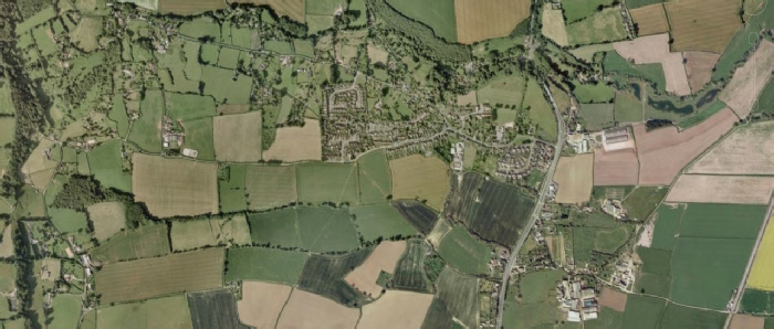 Aerial view of the Village from Google Earch