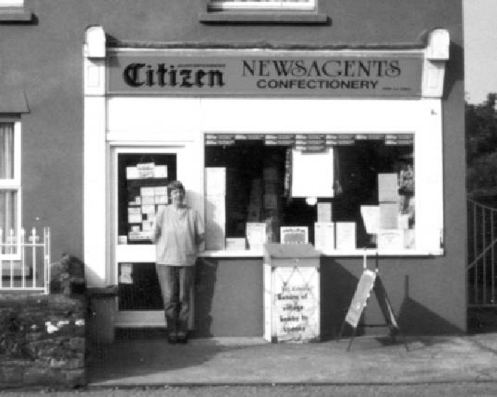 Chalk's Newsagents on Netherend, photographer unknown