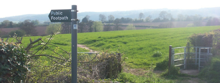 Footpath sign on Severn View Road, start of footpath FWO/107/1, by Mick Fairless*