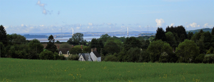 View across to the Old Severn Bridge from Ash Way, by Derrick Lockey