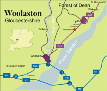 Woolaston Map